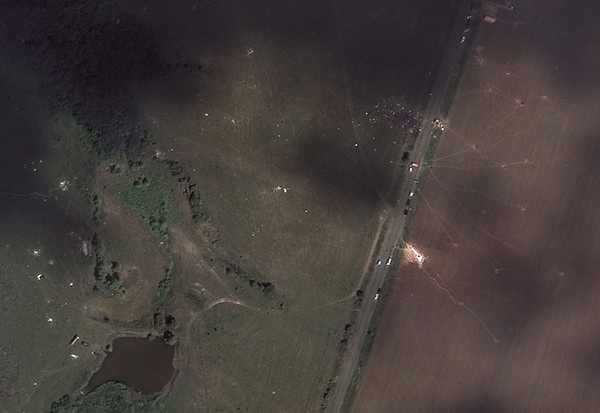 PHOTOS: Satellite view of Malaysia Airlines MH17 crash site in Ukraine