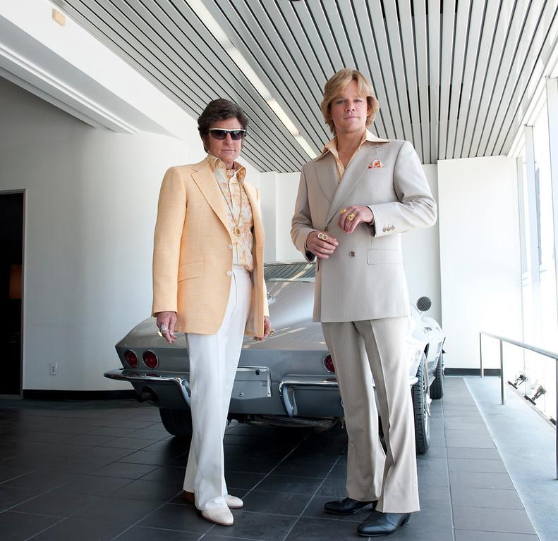 ". Michael Douglas and Matt Damon in HBO\'s \""Behind the Candelabra\"""