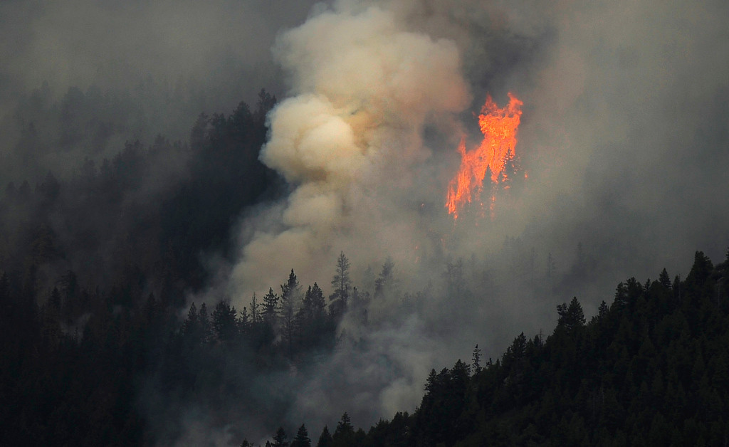 . The High Park fire continues to burn, Tuesday, June 12, 2012, fueled by beetle killed trees. RJ Sangosti, The Denver Post