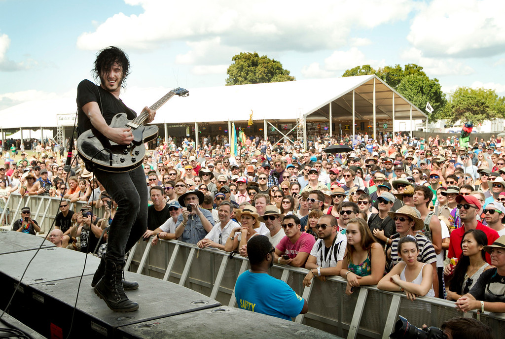 . Reignwolf performs at the Austin City Limits Music Festival at Zilker Park in Austin, Texas, on Saturday Oct. 5, 2013.  (AP Photo/Austin American-Statesman, Jay Janner)