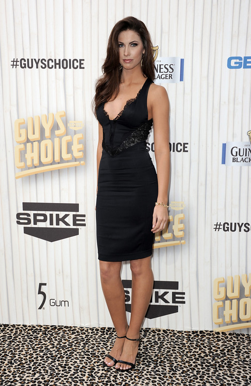 . Katherine Webb arrives at Spike TV\'s Guys Choice Awards at Sony Pictures Studios on Saturday, June 8, 2013, in Culver City, Calif. (Photo by Richard Shotwell/Invision/AP)