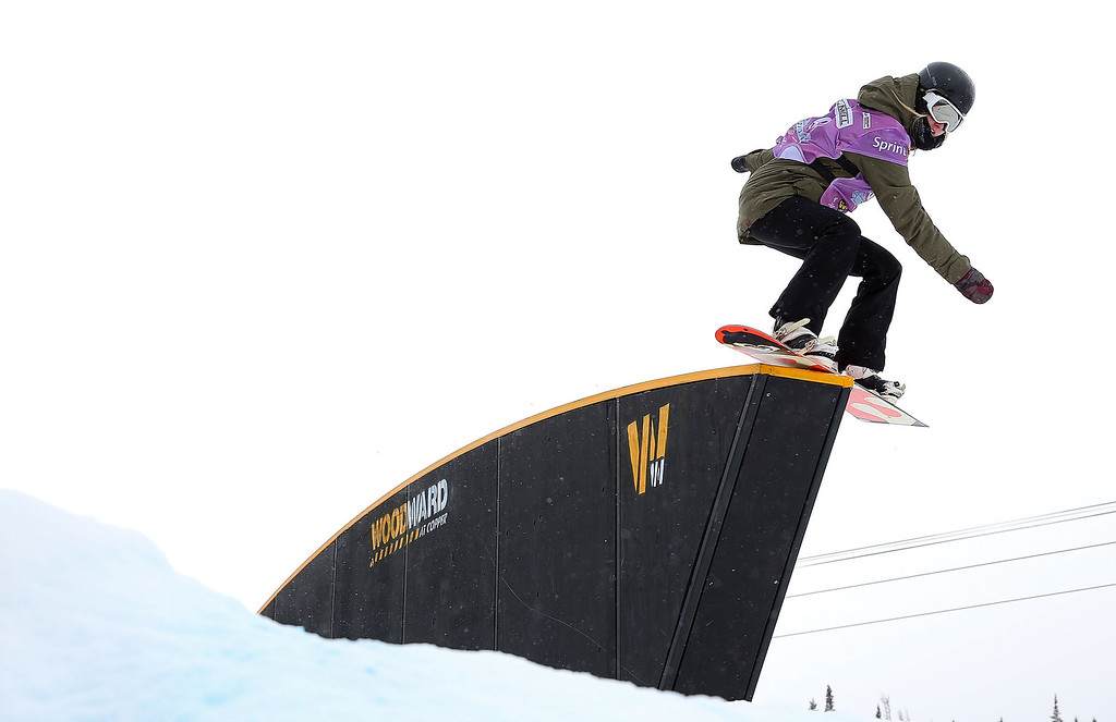 . Lauren Staveley of Australia competes during qualifying for the women\'s FIS Snowboard Slopestyle World Cup at U.S. Snowboarding and Freeskiing Grand Prix on December 20, 2013 in Copper Mountain, Colorado.  (Photo by Mike Ehrmann/Getty Images)