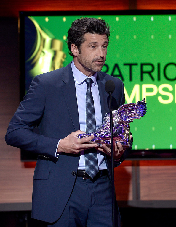 . Honoree Patrick Dempsey speaks onstage at the DoSomething.org and VH1\'s 2013 Do Something Awards at Avalon on July 31, 2013 in Hollywood, California.  (Photo by Kevin Winter/Getty Images)