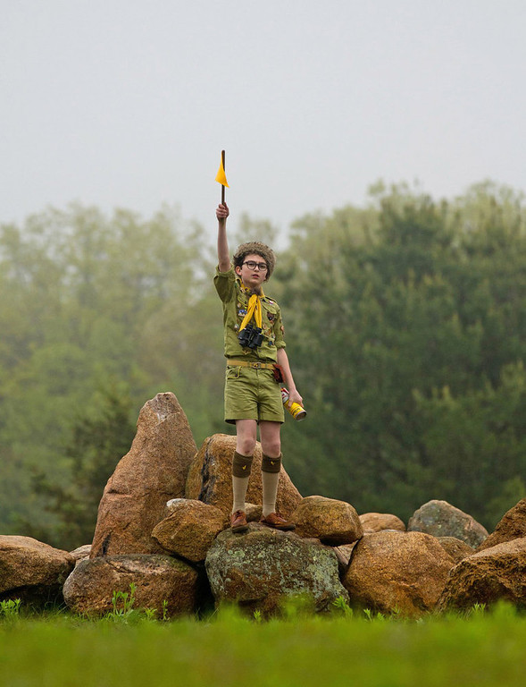 ". In this publicity film image released by Focus Features, Jared Gilman is shown in a scene from ""Moonrise Kingdom.\""  The film was nominated Thursday, Dec. 13, 2012 for a Golden Globe for best comedy.  The 70th annual Golden Globe Awards will be held on Jan. 13. (AP Photo/Focus Features, Niko Tavernis, File)"