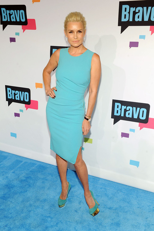 . Yolanda Foster attends the 2013 Bravo New York Upfront at Pillars 37 Studios on April 3, 2013 in New York City.  (Photo by Craig Barritt/Getty Images)