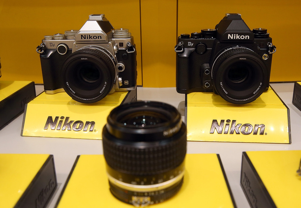 . The Nikon DF is displayed in the Nikon booth at the 2014 International CES at the Las Vegas Convention Center on January 8, 2014 in Las Vegas, Nevada. CES, the world\'s largest annual consumer technology trade show, runs through January 10 and is expected to feature 3,200 exhibitors showing off their latest products and services to about 150,000 attendees.  (Photo by Justin Sullivan/Getty Images)