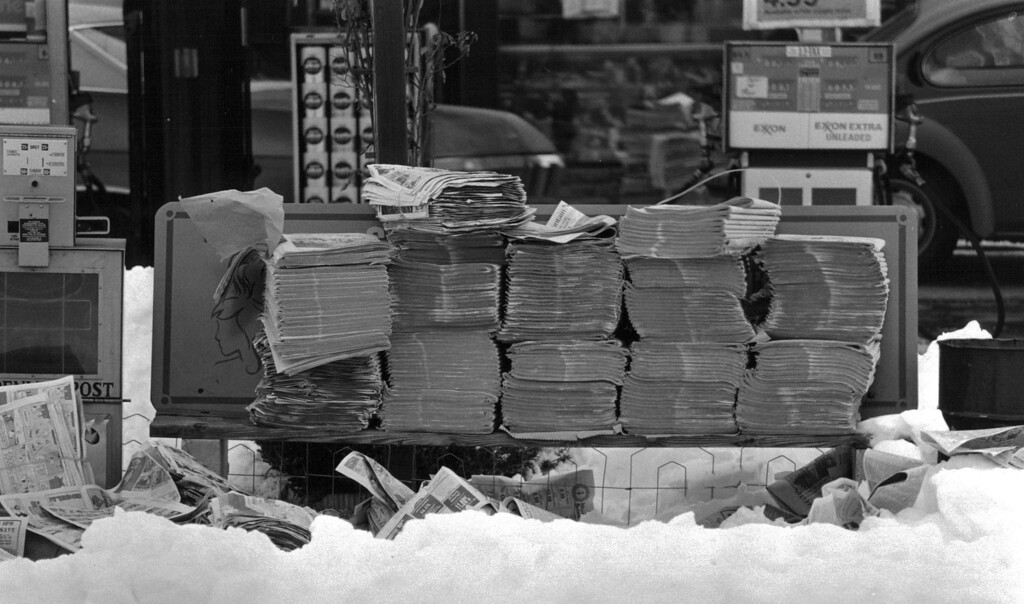 . Newspapers at 8th and Colorado Blvd never made it to residences. Denver Post Library Archive