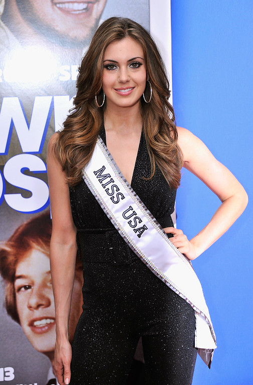 ". Miss USA 2013 Erin Brady attends the ""Grown Ups 2\"" New York Premiere at AMC Lincoln Square Theater on July 10, 2013 in New York City.  (Photo by Stephen Lovekin/Getty Images)"
