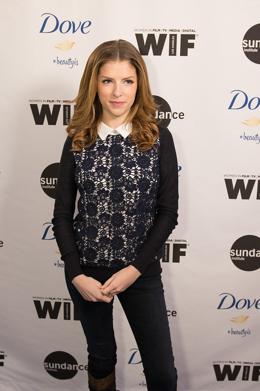 ". Anna Kendrick, attends the premiere of ""Selfie,\"" the new documentary short film from Dove and Sundance Institute, on the 10th anniversary of the campaign for \'Real Beauty\', Sunday, Jan. 20, 2014 in Park City, Utah. (Douglas Barnes/AP Images for Dove)"
