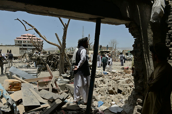 PHOTOS: Deadly Afghan suicide bombing investigation begins