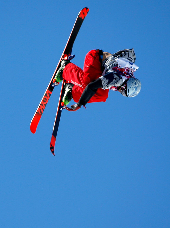 . Nicholas Goepper of USA in action during the Men\'s Freestyle Skiing Slopestyle Final in the Rosa Khutor Extreme Park at the Sochi 2014 Olympic Games, Krasnaya Polyana, Russia, 13 February 2014.  EPA/VALDRIN XHEMAJ