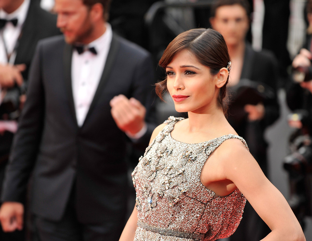 . Actress Frieda Pinto attends the \'Jeune & Jolie\' premiere during The 66th Annual Cannes Film Festival at the  Palais des Festivals on May 16, 2013 in Cannes, France.  (Photo by Gareth Cattermole/Getty Images)