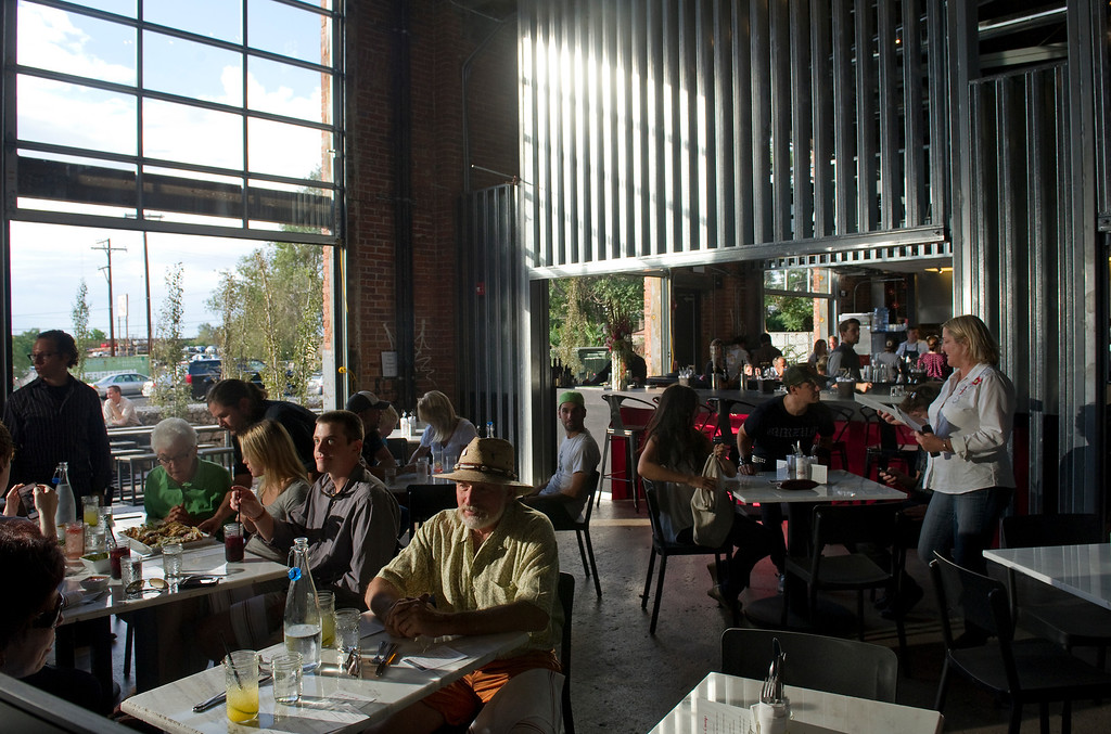 . The new inventive space in a former 19th century foundry,  The Source, 3350 Brighton Blvd. in Denver, is beginning to open. The upscale taqueria, Comida, held a soft opening at the location on Monday August 26, 2013.  (Photo By Cyrus McCrimmon/The Denver Post )