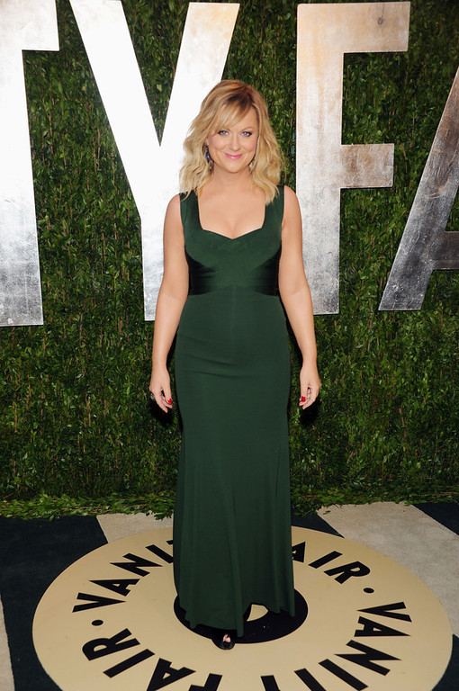 . Actress Amy Poehler arrives at the 2013 Vanity Fair Oscars Viewing and After Party, Sunday, Feb. 24 2013 at the Sunset Plaza Hotel in West Hollywood, Calif. (Photo by Evan Agostini/Invision/AP)