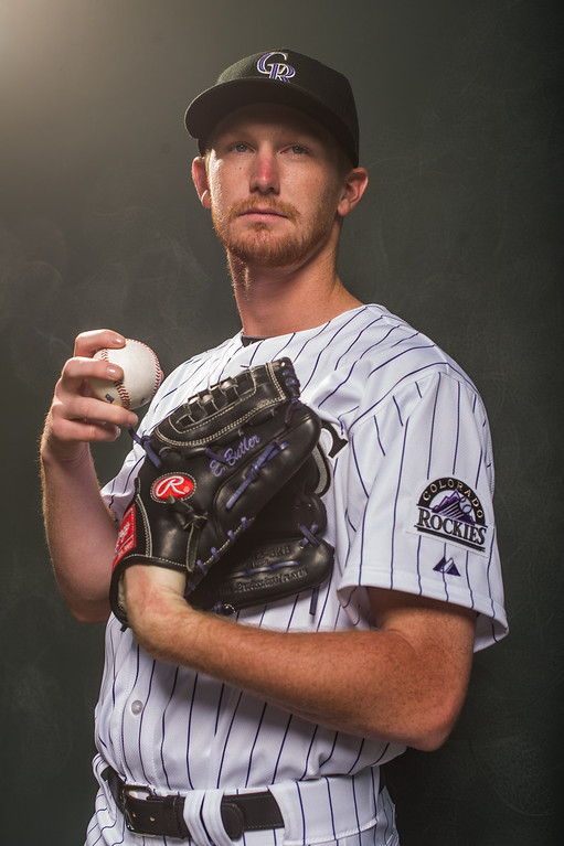 . Eddie Butler #31 of the Colorado Rockies poses for a portrait at the Salt River Fields at Talking Stick on February 26, 2014 in Goodyear, Arizona. (Photo by Rob Tringali/Getty Images)