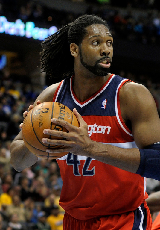 . DENVER, CO - JANUARY 18: Washington forward Nene made his return to the Pepsi Center Friday night. The Denver Nuggets hosted the Washington Wizard at the Pepsi Center Friday night, January 18, 2013. Karl Gehring/The Denver Post