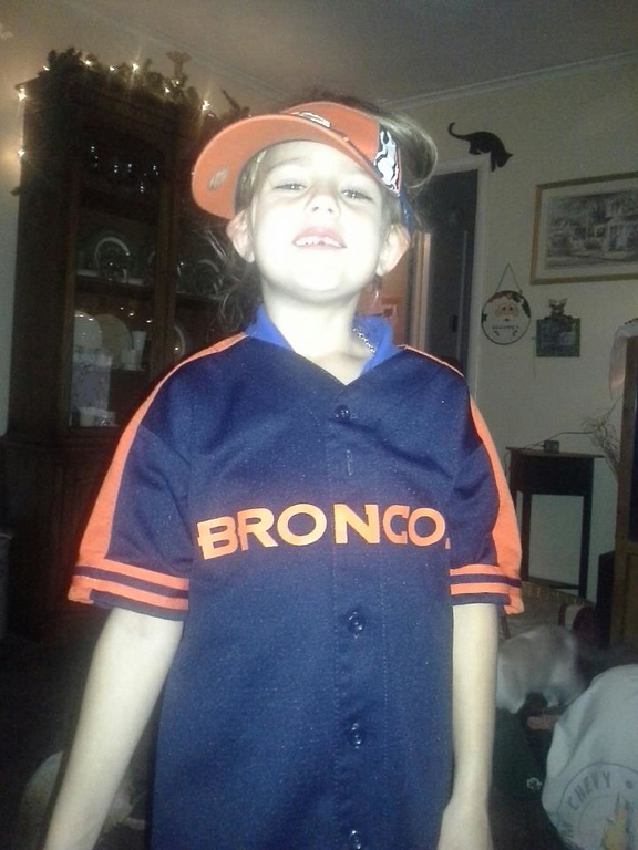 . Tory is ready for a Bronco win against the Ravens!! Rusty Henson