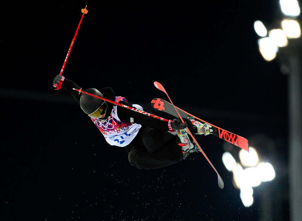 . New Zealand\'s Janina Kuzma competes in the Women\'s Freestyle Skiing Halfpipe finals at the Rosa Khutor Extreme Park during the Sochi Winter Olympics on February 20, 2014.     AFP PHOTO / JAVIER SORIANO/AFP/Getty Images