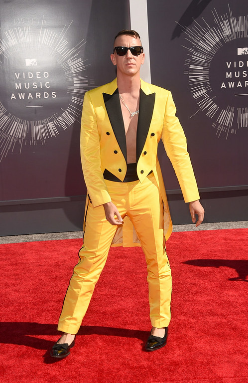 . Fashion designer Jeremy Scott attends the 2014 MTV Video Music Awards at The Forum on August 24, 2014 in Inglewood, California.  (Photo by Jason Merritt/Getty Images for MTV)