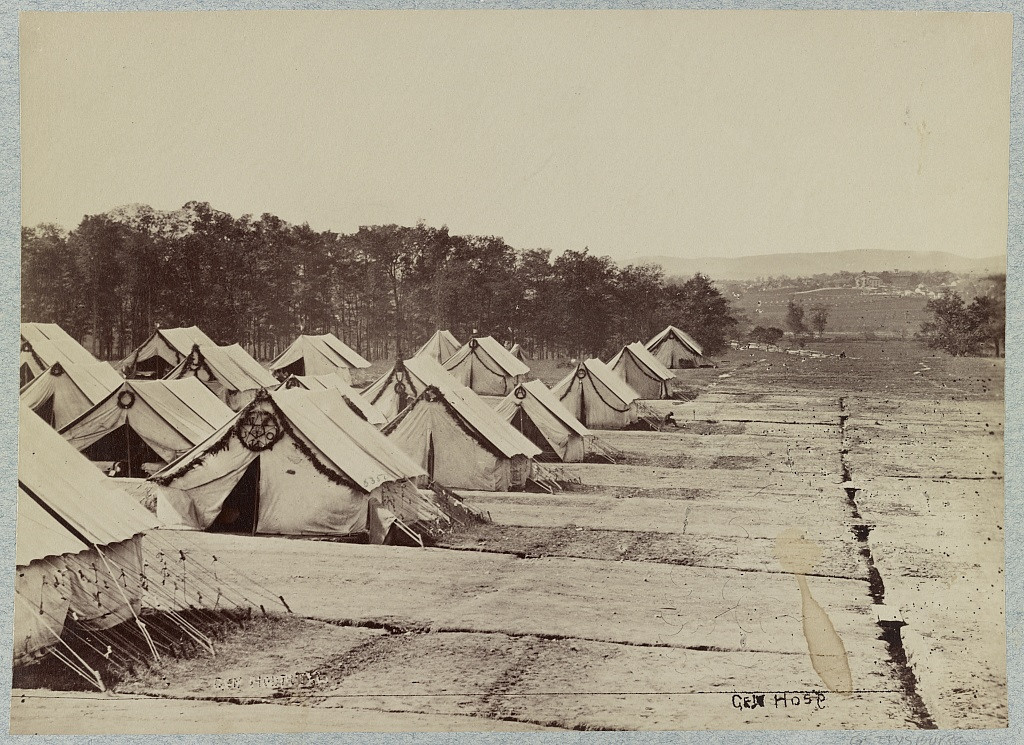 . General Hospital, Gettysburg, August, 1863  - Library of Congress Prints and Photographs Division Washington, D.C.