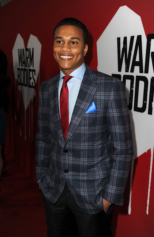 ". Actor Cory Hardrict arrives for the Los Angeles premiere of Summit Entertainment\'s ""Warm Bodies\"" at ArcLight Cinemas Cinerama Dome on January 29, 2013 in Hollywood, California.  (Photo by Kevin Winter/Getty Images)"