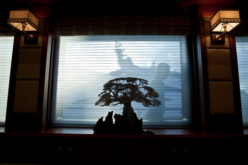 . A bonsai tree sits onboard the 190ft (57.9m) motor yacht Mi Sueno, manufactured by Trinity Yachts LLC, in Nice, France, on Wednesday, Sept. 25, 2013.  Photographer: Balint Porneczi/Bloomberg
