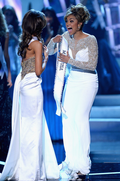. Miss Connecticut USA Erin Brady is being crowned the new Miss USA during the 2013 Miss USA pageant at PH Live at Planet Hollywood Resort & Casino on June 16, 2013 in Las Vegas, Nevada.  (Photo by Ethan Miller/Getty Images)