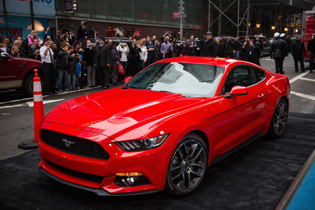 . The new 2015 Ford Mustang is revealed on the set of Good Morning America on December 5, 2013 in New York City. The 2015 model marks the 50th anniversary of the Ford Mustang line.  (Photo by Andrew Burton/Getty Images)