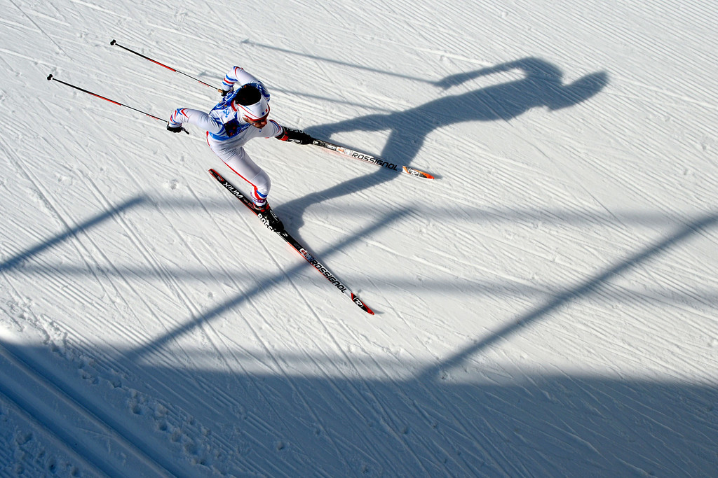 . France\'s Ivan Perrillat Boiteux  competes in the Men\'s Cross-Country Skiing 4 x 10km Relay at the Laura Cross-Country Ski and Biathlon Center during the Sochi Winter Olympics on February 16, 2014 in Rosa Khutor near Sochi. KIRILL KUDRYAVTSEV/AFP/Getty Images