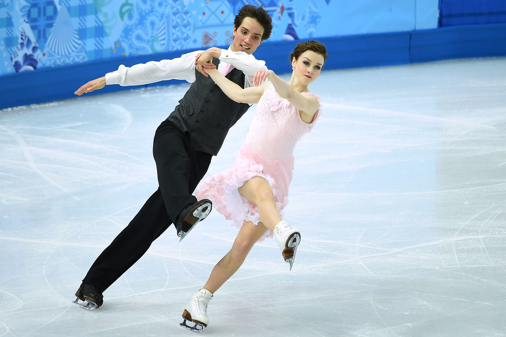 . Canada\'s Mitchell Islam and Canada\'s Alexandra Paul perform in the Figure Skating Ice Dance Short Dance at the Iceberg Skating Palace during the Sochi Winter Olympics on February 16, 2014.    JUNG YEON-JE/AFP/Getty Images