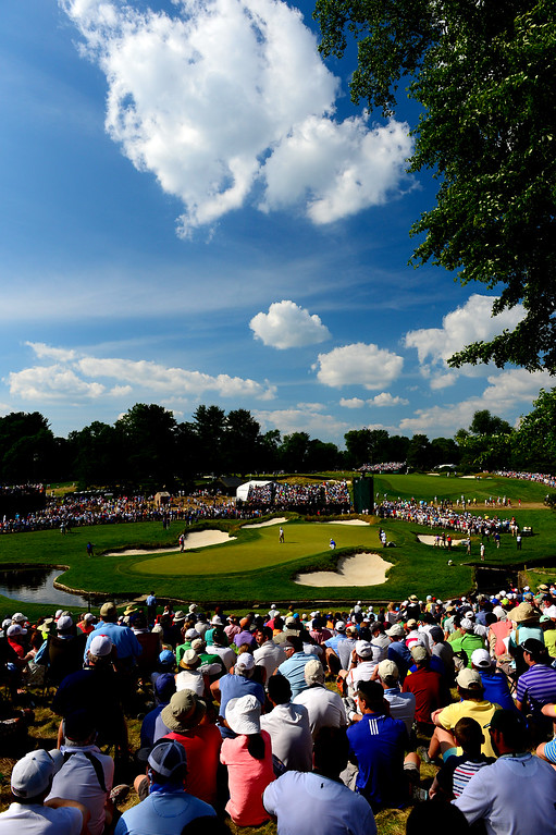 . A general view of the ninth green is seen during Round Three of the 113th U.S. Open at Merion Golf Club on June 15, 2013 in Ardmore, Pennsylvania.  (Photo by David Cannon/Getty Images)
