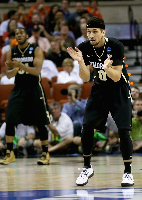 . AUSTIN, TX - MARCH 22:  Askia Booker #0 of the Colorado Buffaloes plays against the Illinois Fighting Illini during the second round of the 2013 NCAA Men\'s Basketball Tournament at The Frank Erwin Center on March 22, 2013 in Austin, Texas.  (Photo by Stephen Dunn/Getty Images)