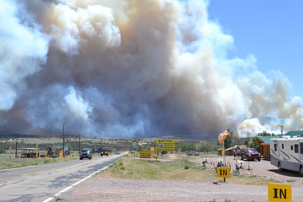. A fire is burning near the Royal Gorge. Michael Alcala/Daily Record
