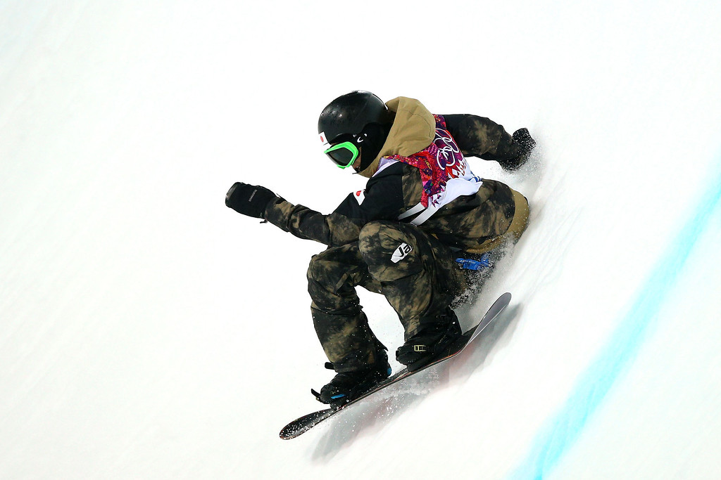 . Taku Hiraoka of Japan competes in the Snowboard Men\'s Halfpipe Finals on day four of the Sochi 2014 Winter Olympics at Rosa Khutor Extreme Park on February 11, 2014 in Sochi, Russia.  (Photo by Cameron Spencer/Getty Images)