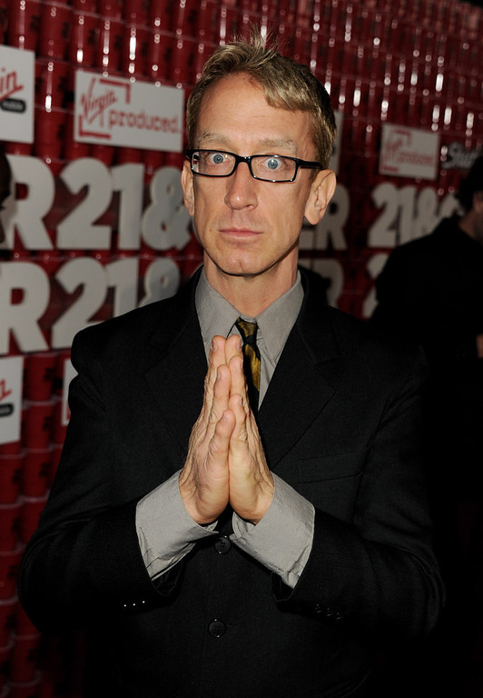 ". Actor Andy Dick arrives at the premiere of Relativity Media\'s ""21 And Over\"" at the Village Theatre on February 21, 2013 in Los Angeles, California.  (Photo by Kevin Winter/Getty Images)"