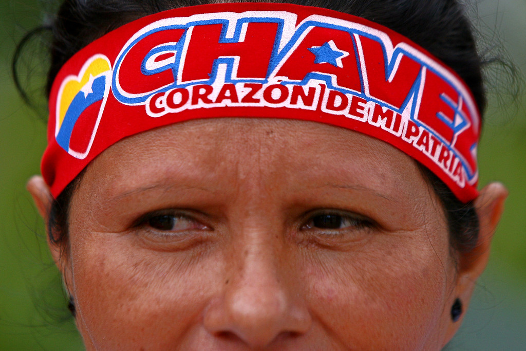 . A supporter of late Venezuela\'s President Hugo Chavez awaits her turn to pay her last homage to the leader, in Caracas, on March 12, 2013. The campaign to succeed the late Hugo Chavez in Venezuela has officially begun and so has the mudslinging, good and thick. GERALDO CASO/AFP/Getty Images