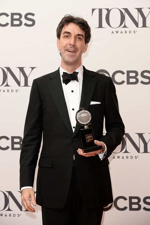 """. Composer Jason Robert Brown, winner of the Tony Award for Best Original Score (Music and/or Lyrics) Written for the Theatre for \"""" The Bridges of Madison County\"""" poses in the press room during the 68th Annual Tony Awards on June 8, 2014 in New York City.  (Photo by Andrew H. Walker/Getty Images for Tony Awards Productions)"""