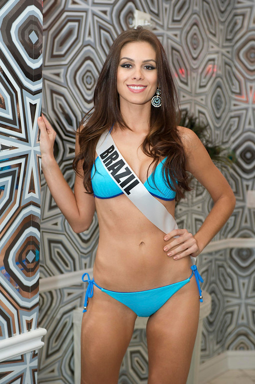 . Miss Brazil Gabriela Markus poses for photos in swimwear in Las Vegas, Nevada December 11, 2012. The Miss Universe 2012 pageant will be held on December 19, 2012 at the Planet Hollywood Resort and Casino in Las Vegas. REUTERS/Darren Decker/Miss Universe Organization L.P/Handout