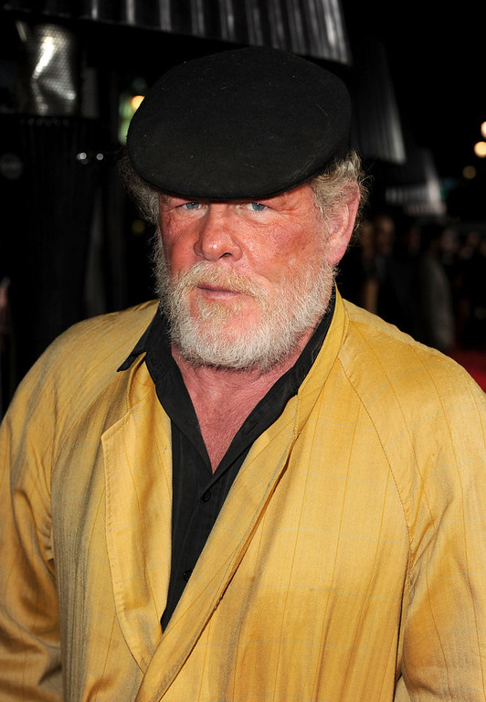 """. Actor Nick Nolte arrives at Warner Bros. Pictures\' \""""Gangster Squad\"""" premiere at Grauman\'s Chinese Theatre on January 7, 2013 in Hollywood, California.  (Photo by Kevin Winter/Getty Images)"""