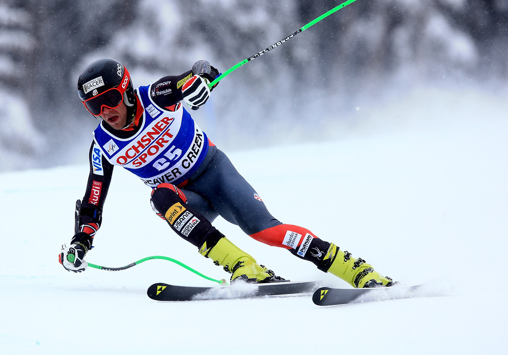 . Steven Nyman of the United States in action during the 2013 Audi FIS Beaver Creek World Cup Men\'s Super G race on December 7, 2013 in Beaver Creek, Colorado.  (Photo by Doug Pensinger/Getty Images)