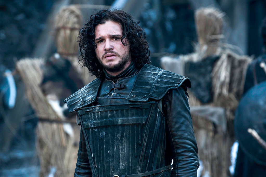 ". This image released by HBO shows Kit Harington in a scene from ""Game of Thrones.\""  The series garnered 19 Emmy Award nominations on Thursday, July 10, 2014, including one for best drama series. (AP Photo/HBO, Helen Sloan)"
