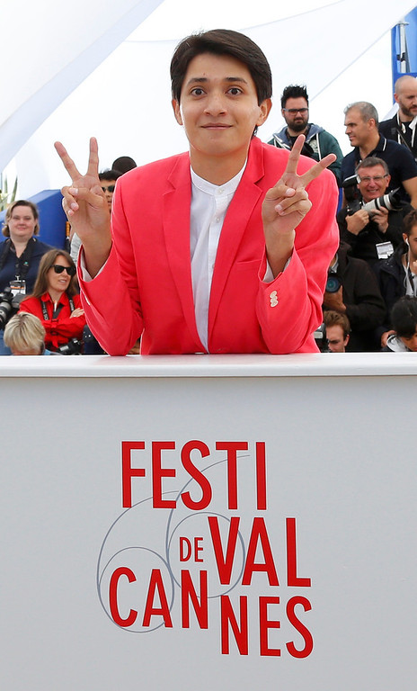 . Cast member Armando Espitia poses during a photocall for the film \'Heli\' during the 66th Cannes Film Festival in Cannes May 16, 2013              REUTERS/Yves Herman