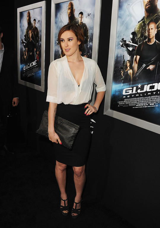 ". Actress Rumer Willis attends the premiere of Paramount Pictures\' ""G.I. Joe:Retaliation\"" at TCL Chinese Theatre on March 28, 2013 in Hollywood, California.  (Photo by Kevin Winter/Getty Images)"