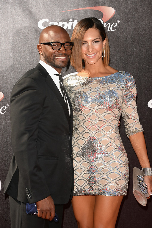. LOS ANGELES, CA - JULY 16:  Actor Taye Diggs (L) and Amanza Smith Brown attend The 2014 ESPYS at Nokia Theatre L.A. Live on July 16, 2014 in Los Angeles, California.  (Photo by Jason Merritt/Getty Images)
