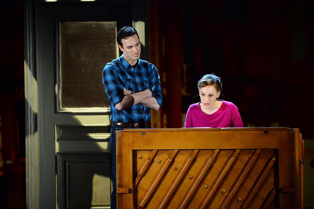 . Jake Epstein and Jessie Mueller from \'BEAUTIFUL- The Carole King Musical\' perform onstage during the 68th Annual Tony Awards at Radio City Music Hall on June 8, 2014 in New York City.  (Photo by Theo Wargo/Getty Images for Tony Awards Productions)