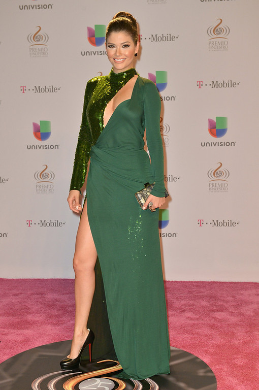 ". Ana Patricia Gonzalez arrives at the 25th Anniversary Of Univision\'s ""Premio Lo Nuestro A La Musica Latina\"" on February 21, 2013 in Miami, Florida.  (Photo by Gustavo Caballero/Getty Images for Univision)"