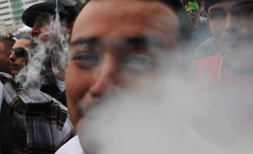 . Thousands show, Wednesday April, 20, 2011, for the annual 420 Rally at Civic Center Park. RJ Sangosti, The Denver Post