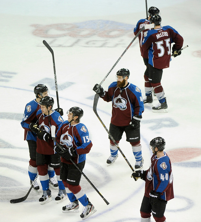 . DENVER, CO. - MARCH 12: in the third period. The Colorado Avalanche came back to beat the Dallas Stars 4-3 Wednesday night, March 19, 2013 at the Pepsi Center in Denver. (Photo By Karl Gehring/The Denver Post)