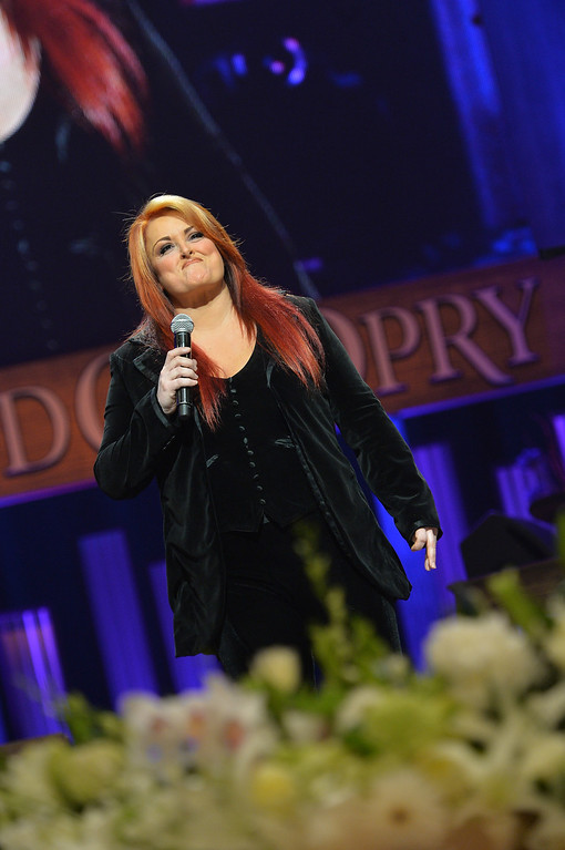 . Country singer Wynonna performs at the funeral service for George Jones at The Grand Ole Opry on May 2, 2013 in Nashville, Tennessee. (Photo by Rick Diamond/Getty Images for GJ Memorial)