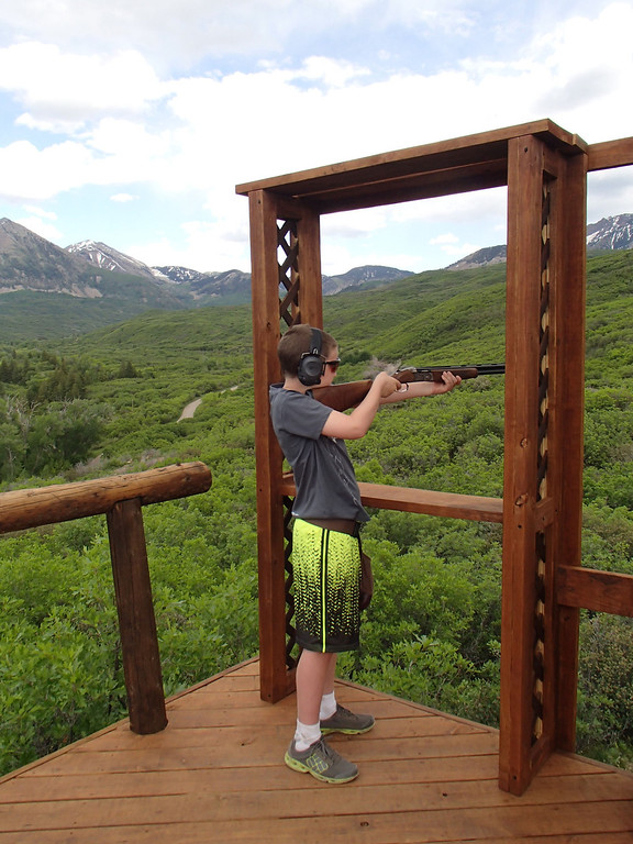 . Clay shooting is one of the many activities available at Smith Fork Ranch near Crawford.  Photo provided by Kara Williams
